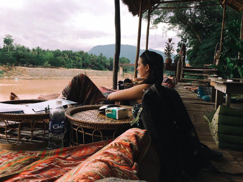 Relaxing in Luang Prabang, Laos.