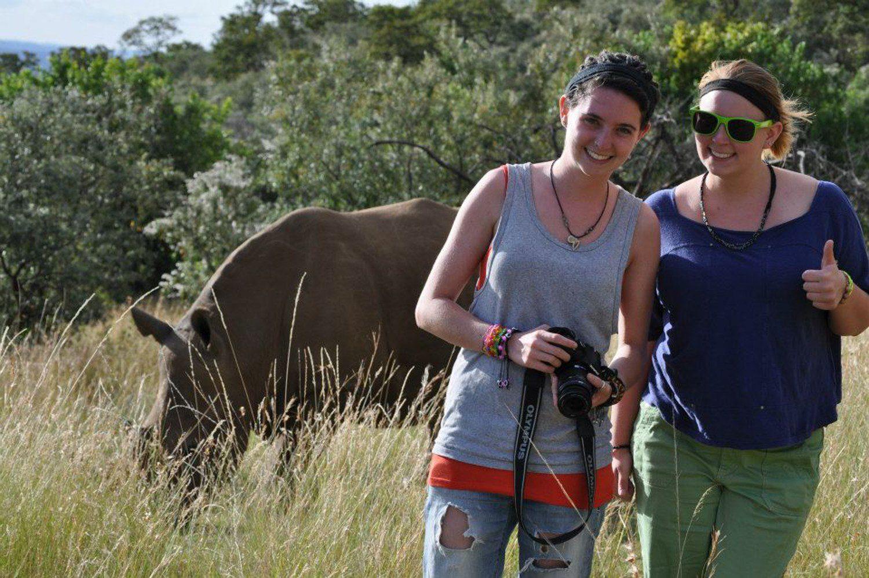 With wildlife at Masaai Mara, Kenya.