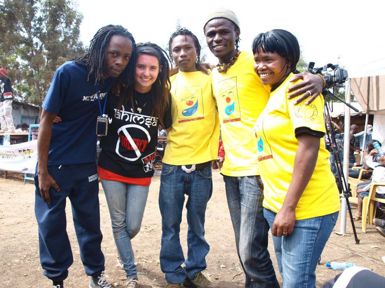 Katty in Nairobi, Kenya with coworkers.