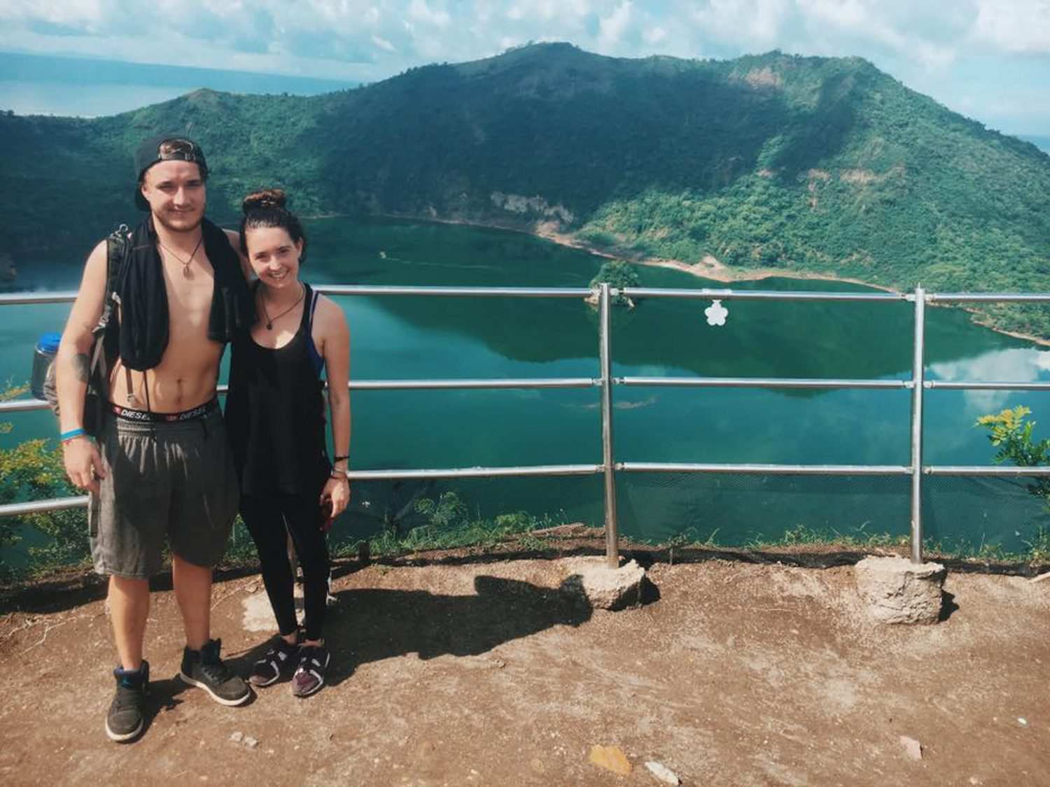 At Taal Vocano Crater in the Philipplines.