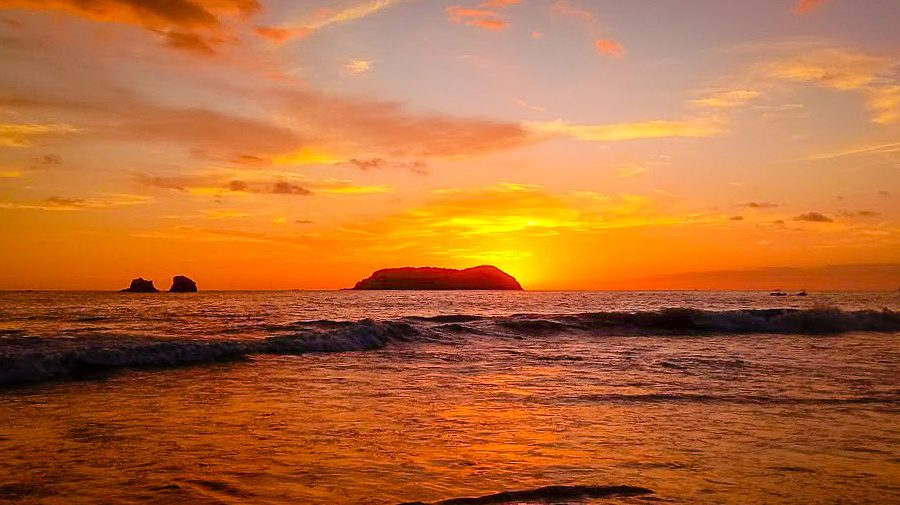 The sunrise in Manuel Antonio. Costa Rica was a perfect place to start the new year!