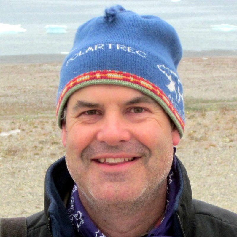 Author Michael R. Wing on Cornwallis Island, Nunavut, Canada.