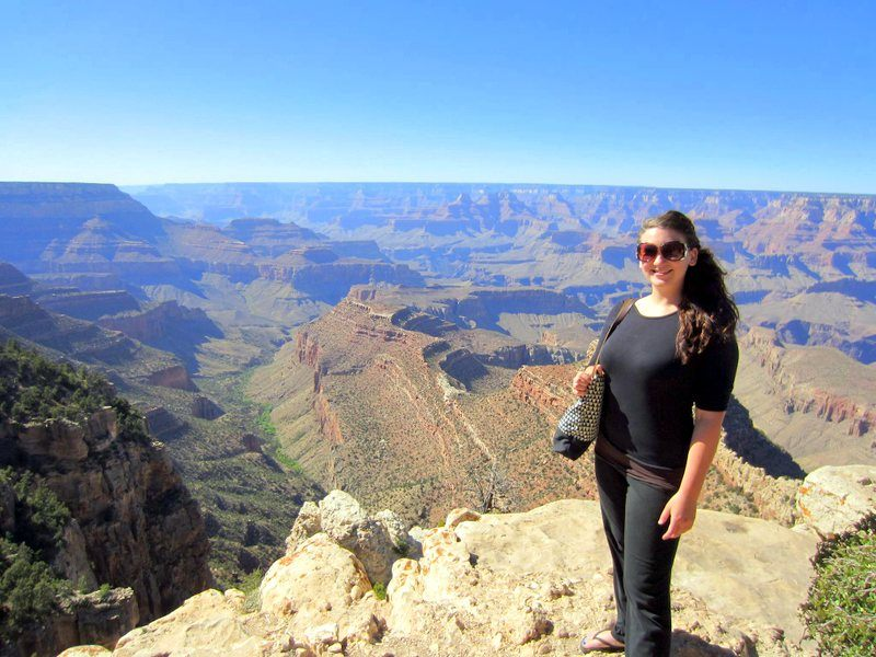 Shannon at the Grand Canyon on a USA road trip.