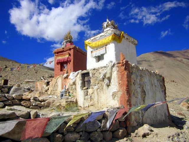 A Mountain Shrine in India.