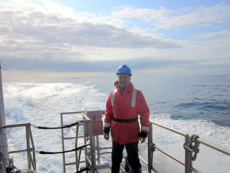Michael during the Teacher at Sea program.