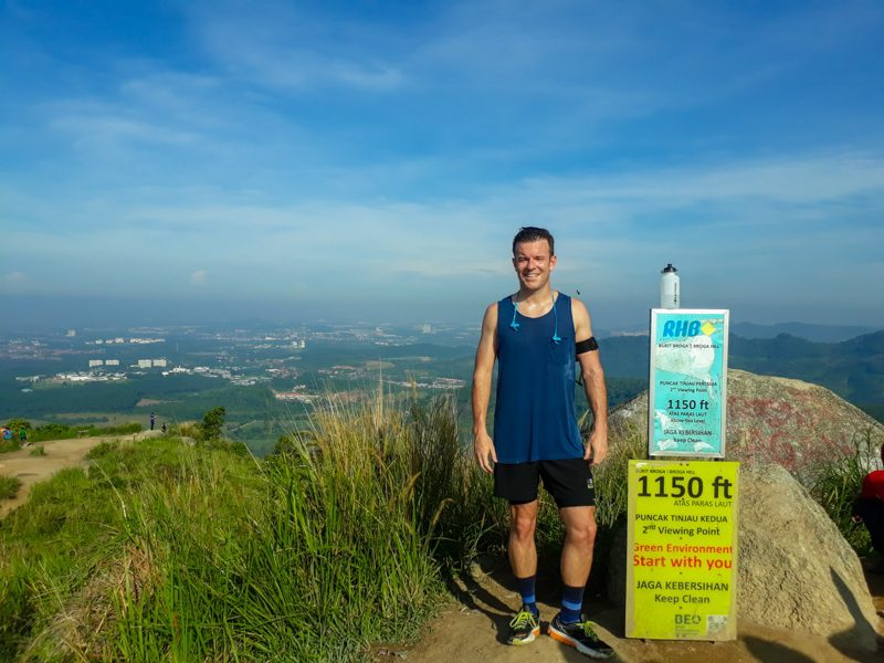 Tim on a hike in Malaysia, on break from teaching abroad.