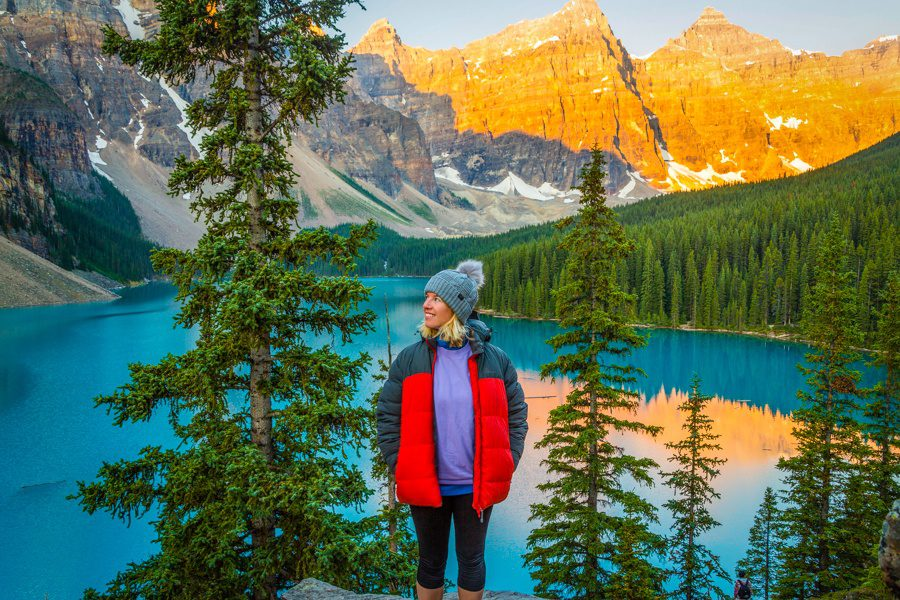 An early morning wake up to visit Moraine Lake in the Canadian Rockies.