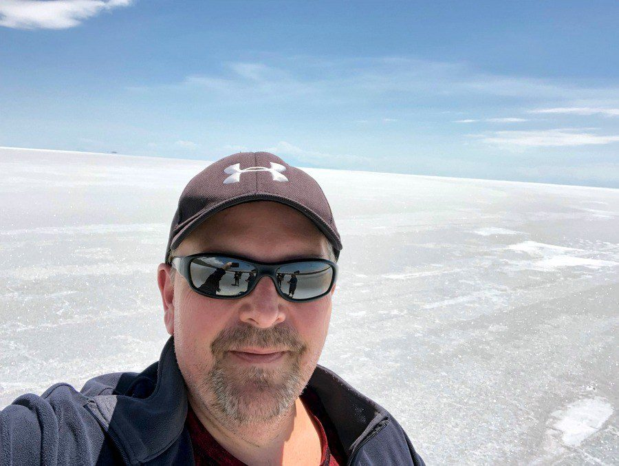 Yves at Bolivia's salt flats.