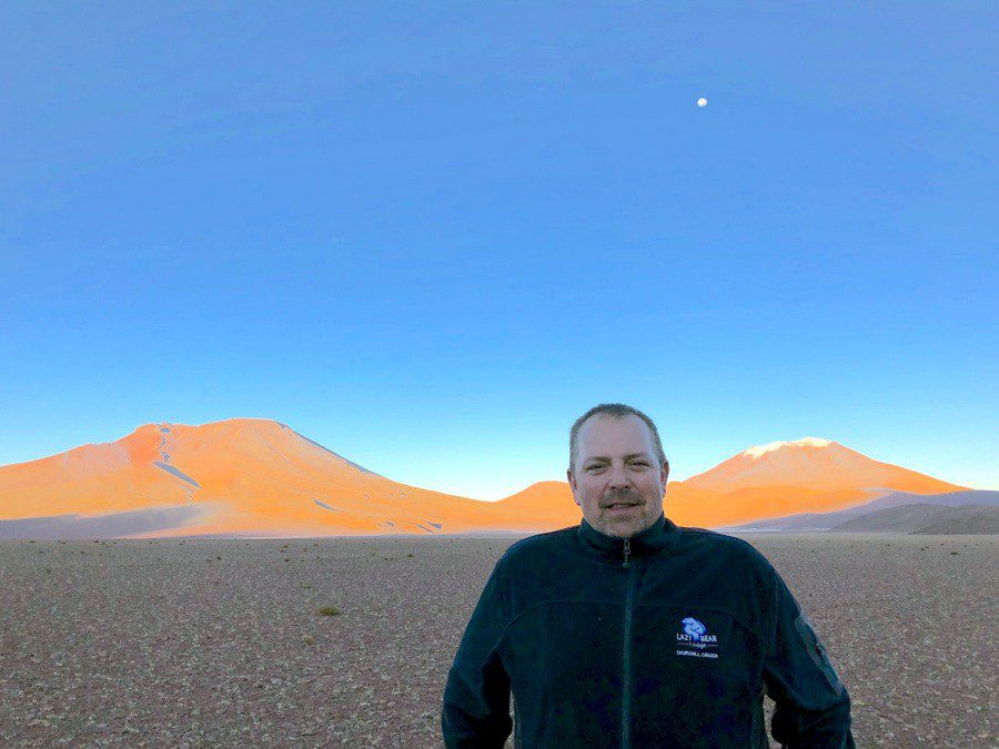 Yves showing Bolivia's glorious landscapes.