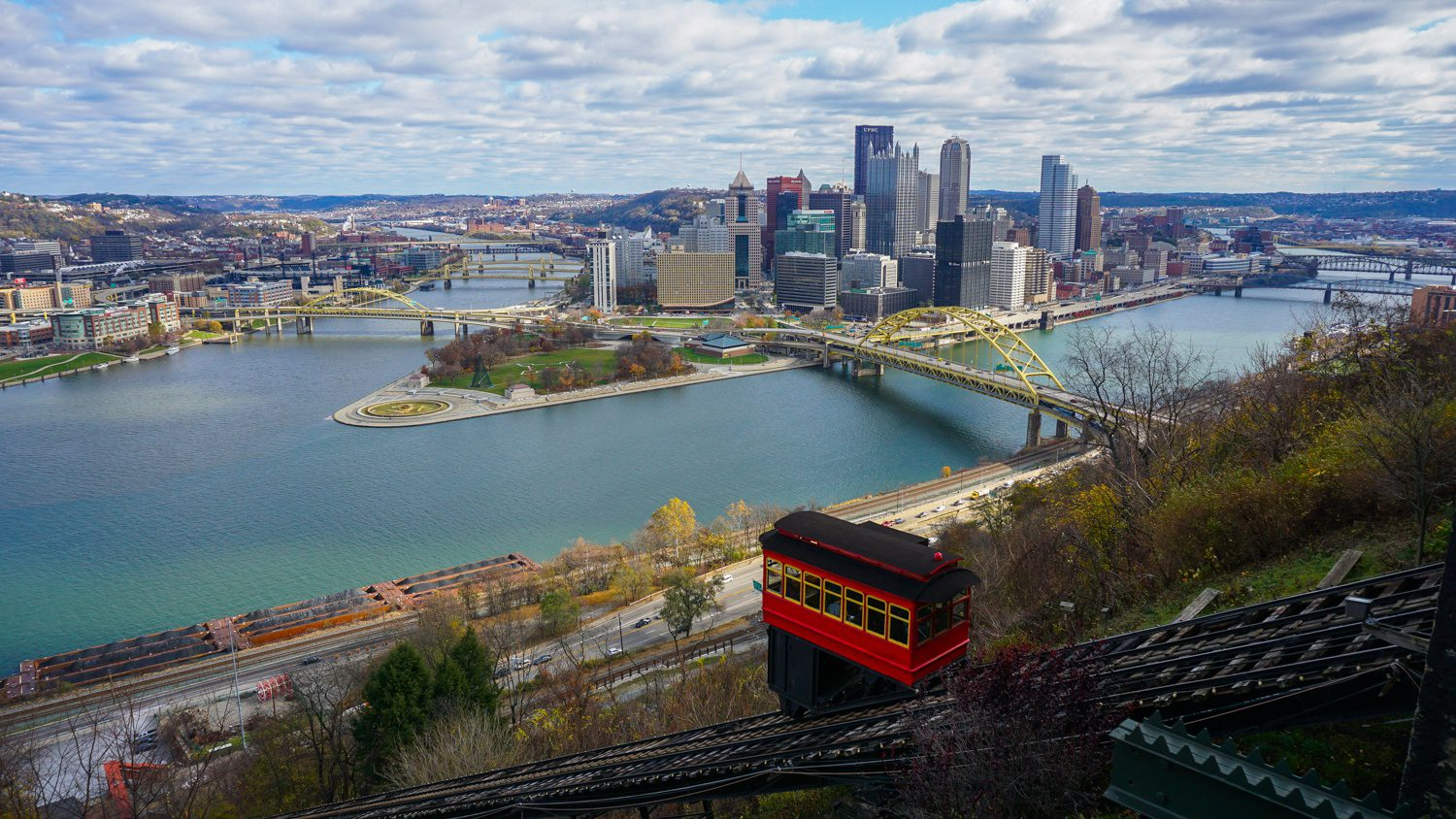 """Teaching others about your city is a beautiful kind of education! For Pittsburgh, PA, """"Discover the Burgh"""" has become a great resource for those looking to visit Pittsburgh, as well as locals looking for the best things to do around the city. Pictured: The iconic view of Pittsburgh's skyline with the Duquesne Incline in the foreground."""