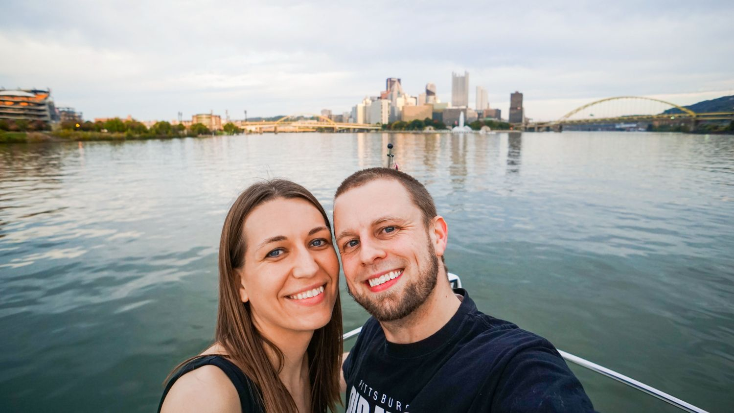 """Teaching others about your city is a beautiful kind of education! For Pittsburgh, PA, """"Discover the Burgh"""" has become a great resource for those looking to visit Pittsburgh, as well as locals looking for the best things to do around the city. Pictured: A rare selfie from Jeremy and Angie."""