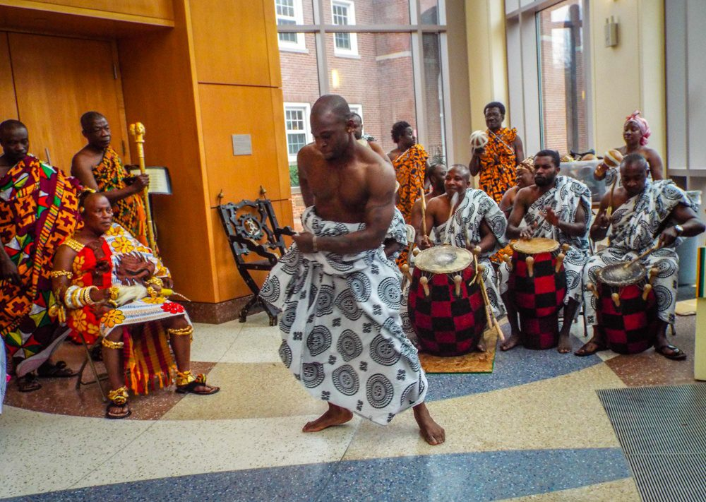 Dancing in front of the Chief (Nana) during his U.S. visit.