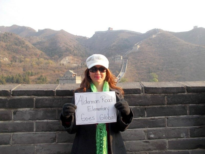 On the Great Wall of China with the College Chinese Bridge Delegation.