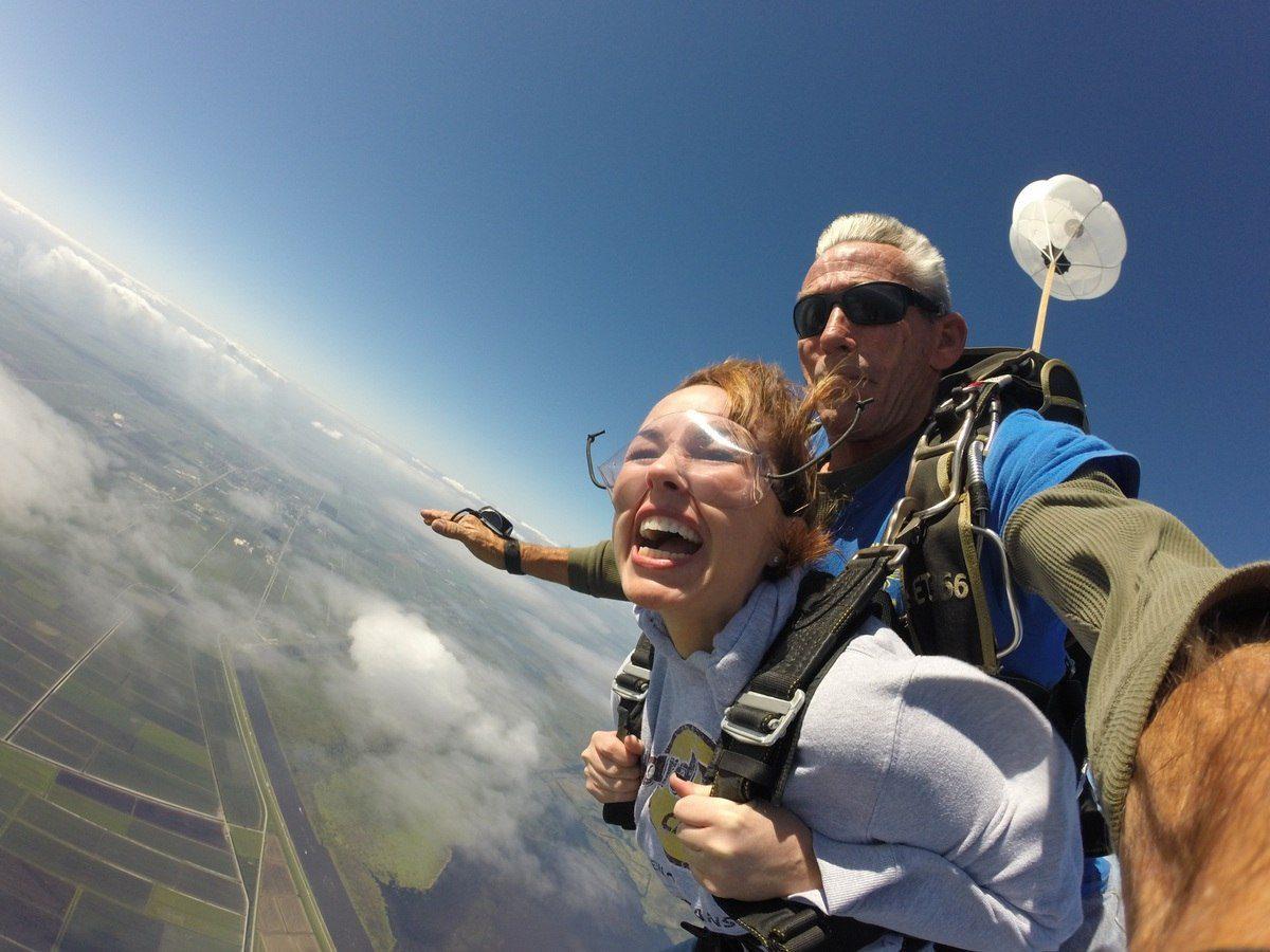 Andi skydiving in Florida!