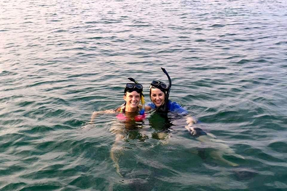 Snorkeling during teacher travel to the Galapagos Islands with World View.