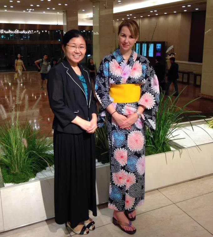 Enjoying Japanese fashion: Yukata in Japan with the ESD program.
