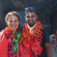 Bibek and Natasha in Nepal.