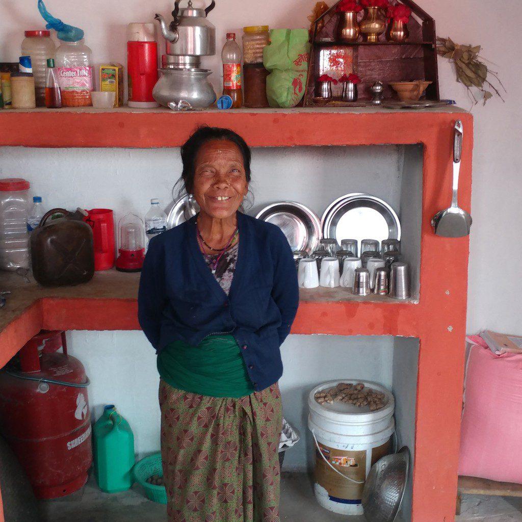 Bimala in her kitchen in Rainaskot.