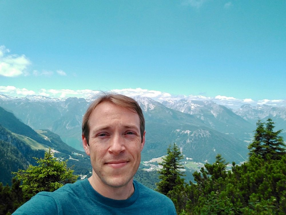 Daniel at Berchtesgaden in the Alps of Germany.