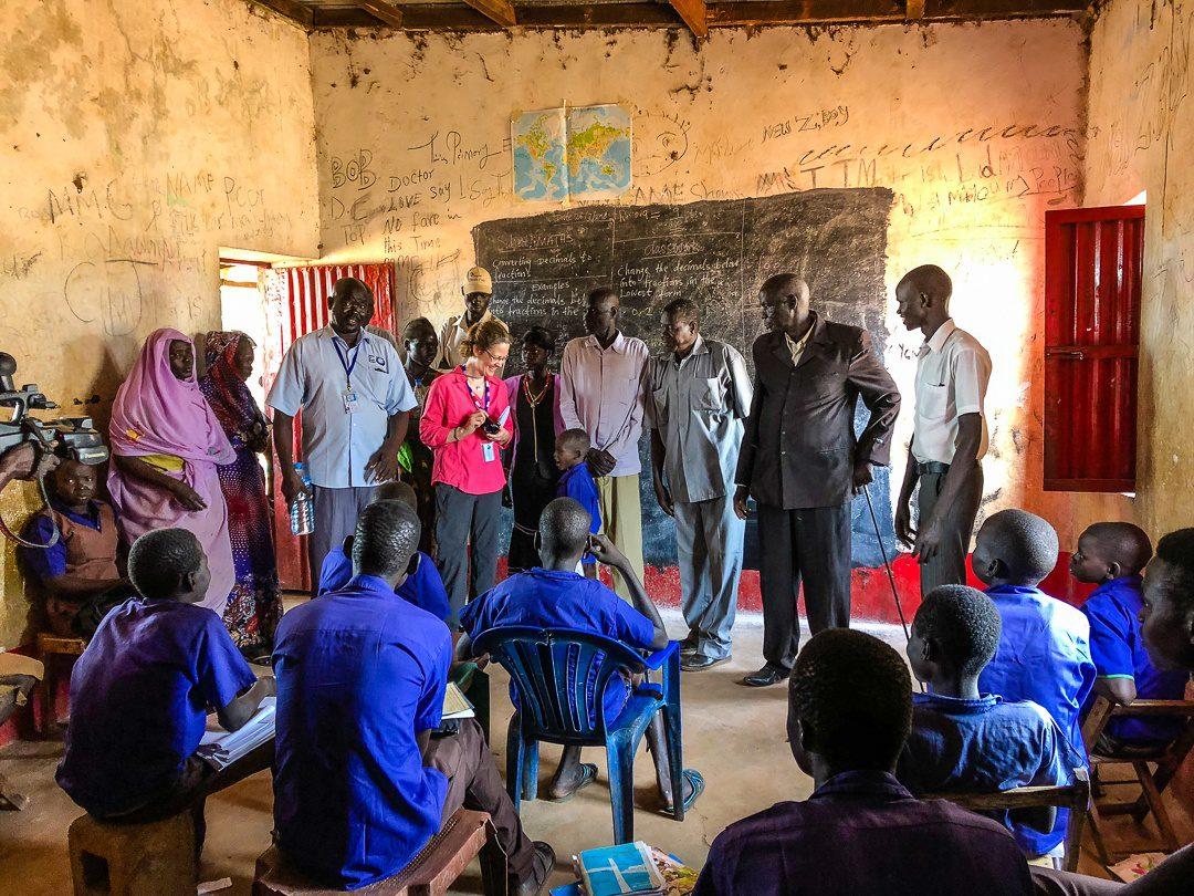 A school in South Sudan.