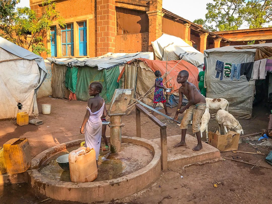 A well in the Wau refugee camp.