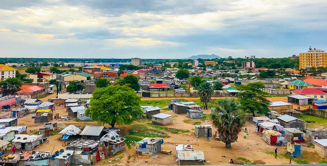 Homes in downtown Juba, South Sudan.