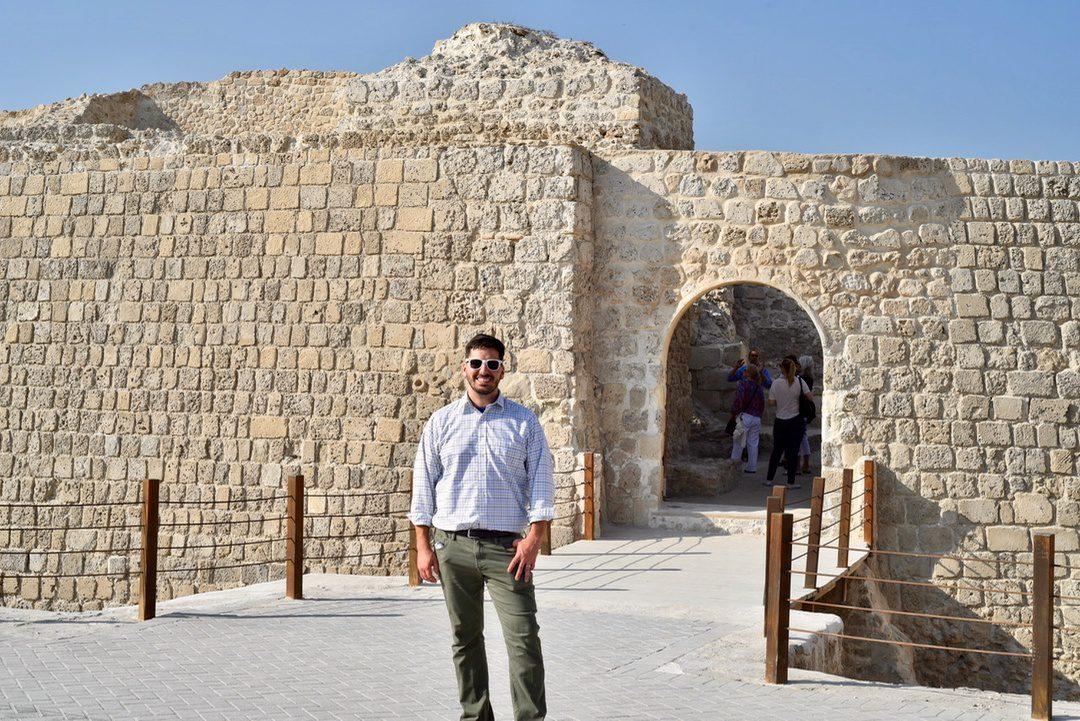Matt in Bahrain with the teacher travel program there.