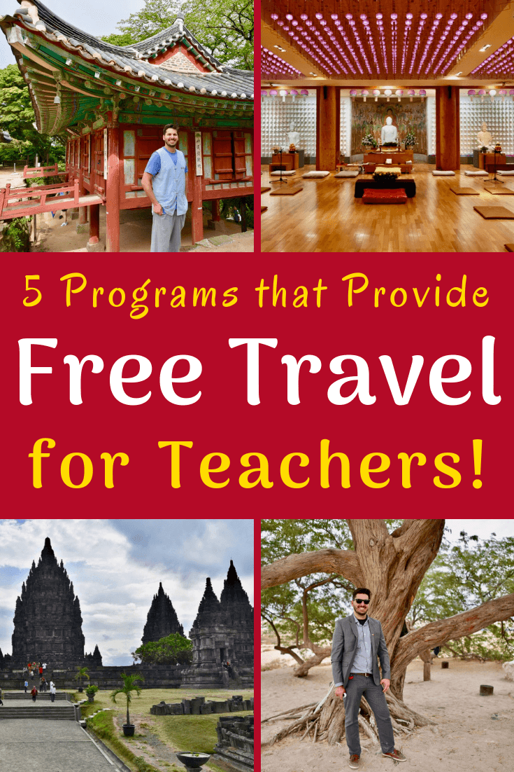 Free teacher travel is possible with these 5 global education fellowship programs: TGC, TOP Germany, TEACH Bahrain, Korean War Legacy Foundation, and EF Tours!