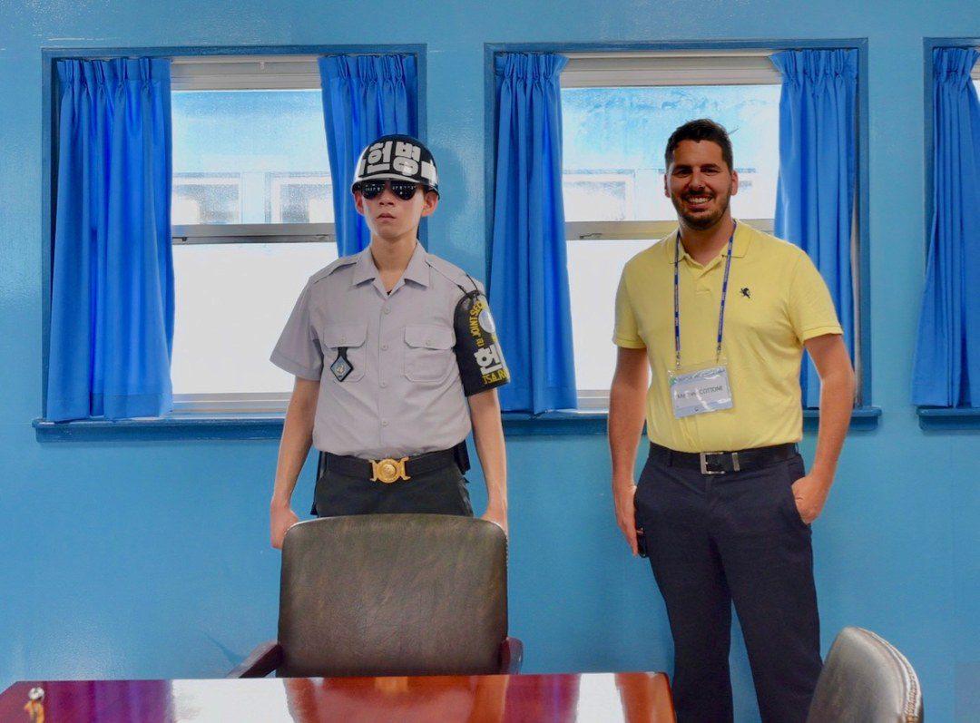 Matt at the DMZ in Korea.