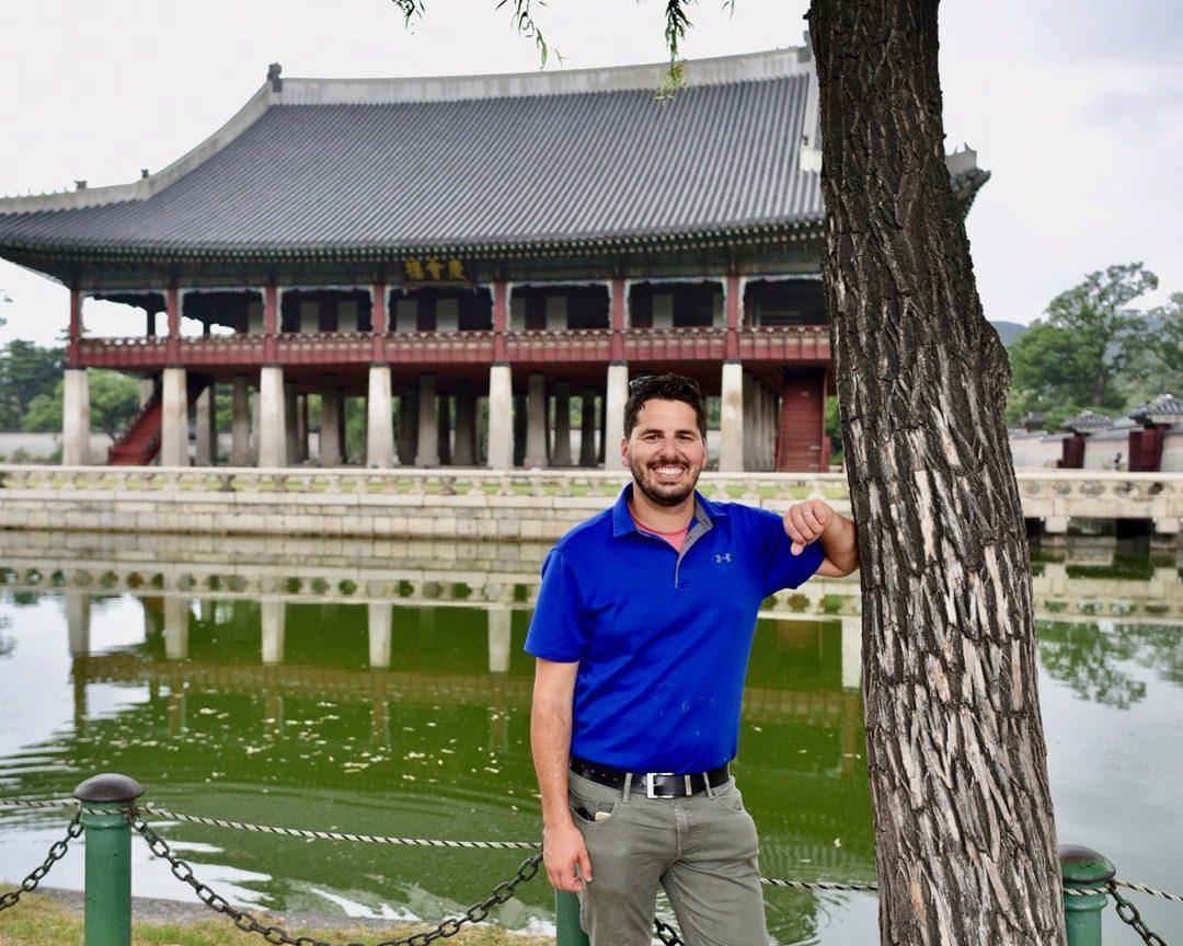 Matt at Gyeongbokgung Palace in South Korea.