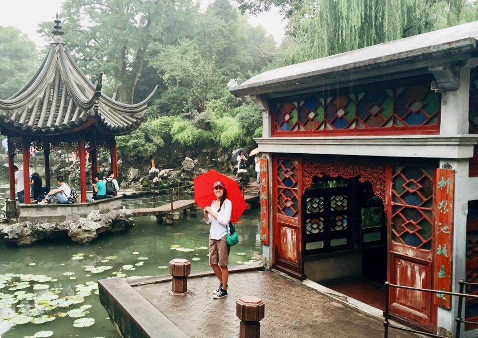 Isabel Morales on a Fulbright Group Study Trip to China.