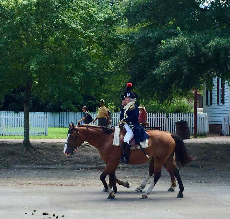 A horse at Colonial Williamsburg, VA.