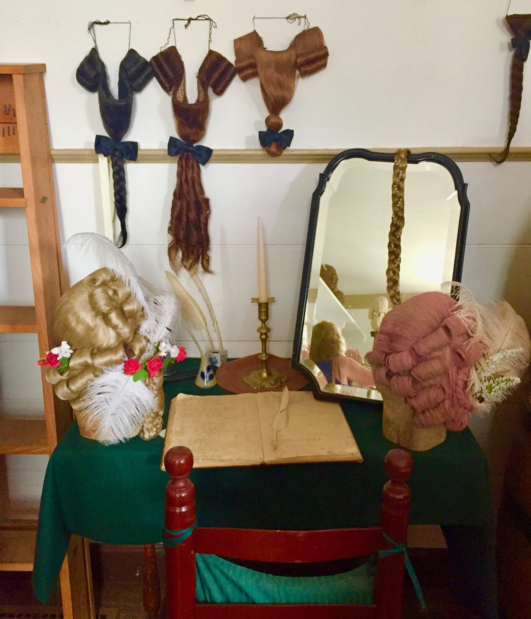 In the Wigmakers Shop at Colonial Williamsburg.