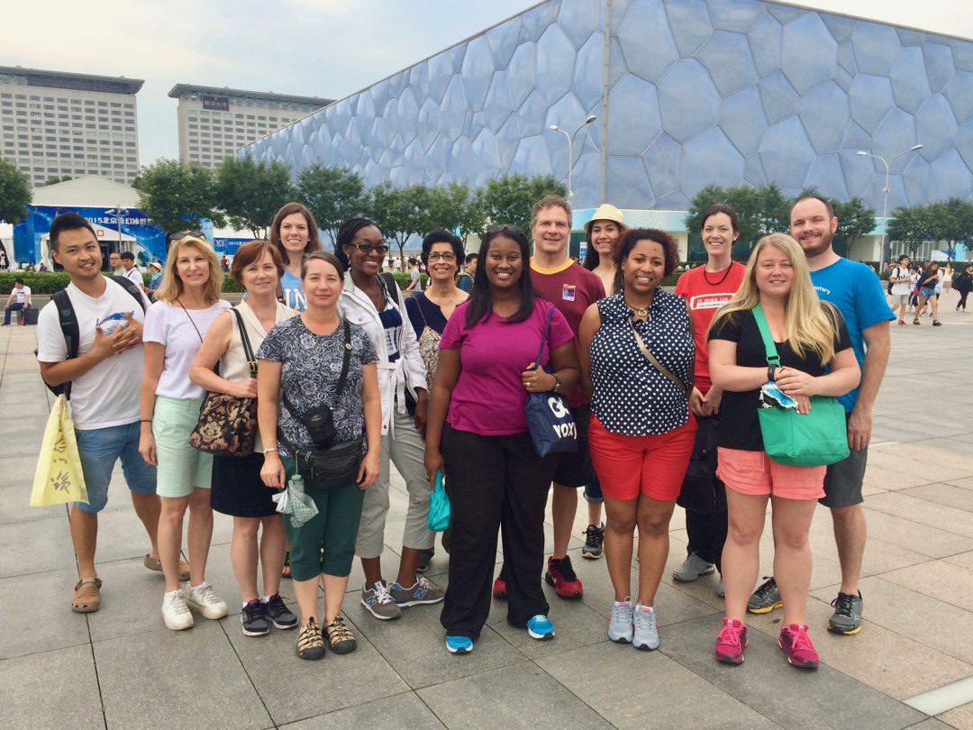 Candace Heckstall in China on a Fulbright-Hays Group Projects Abroad grant.