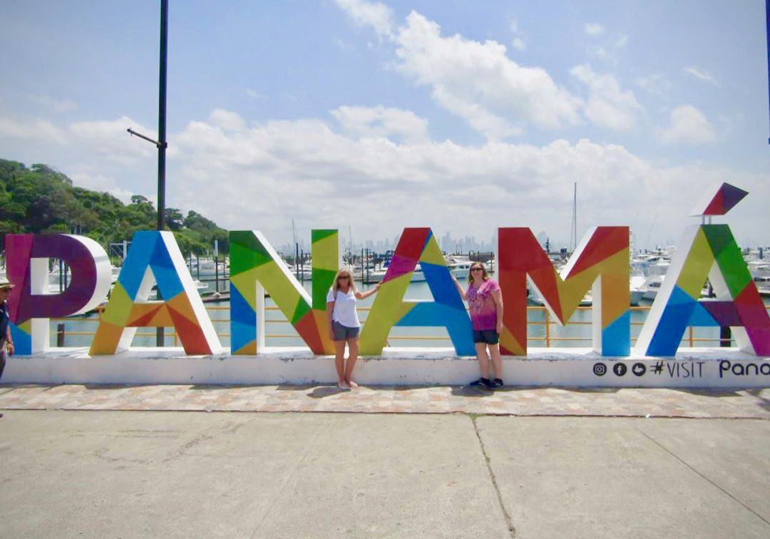 Breann with the famous Panama sign.