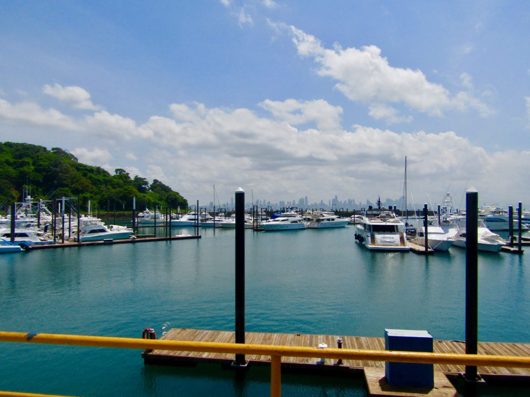 The view on the Amador Causeway, Panama.