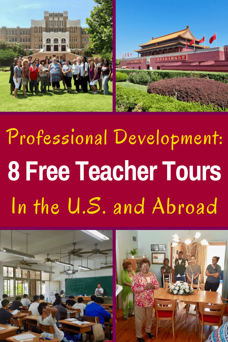 8 grants for teachers to do professional development educational tours and travel: Civil Rights Educator Institute, Asia study tour, NEH, & Library of Congress.