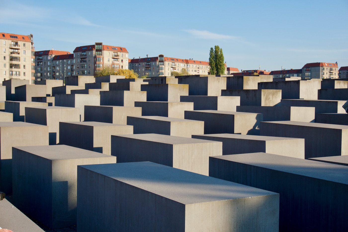 The Holocaust memorial in Berlin, Germany.