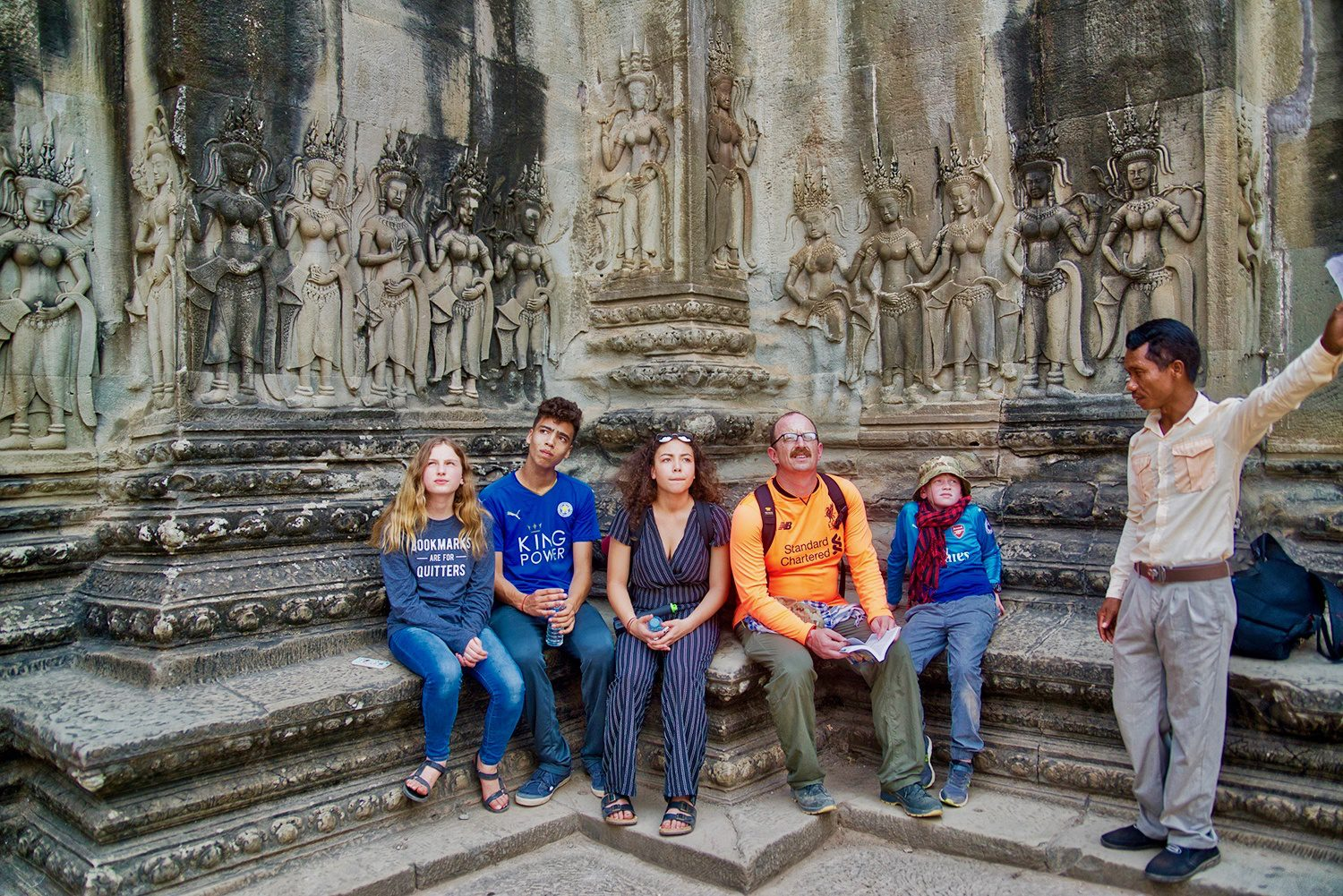 Family travel and multicultural education in Angkor Wat, Cambodia.
