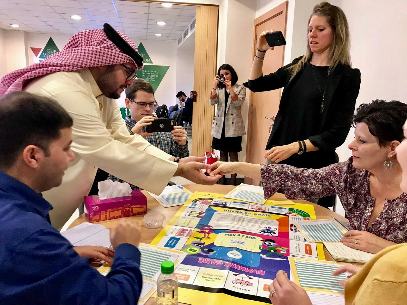 Crossing cultures and connecting in Bahrain.