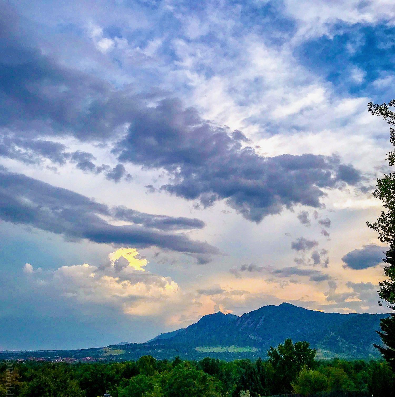 Sunrise in Boulder, CO