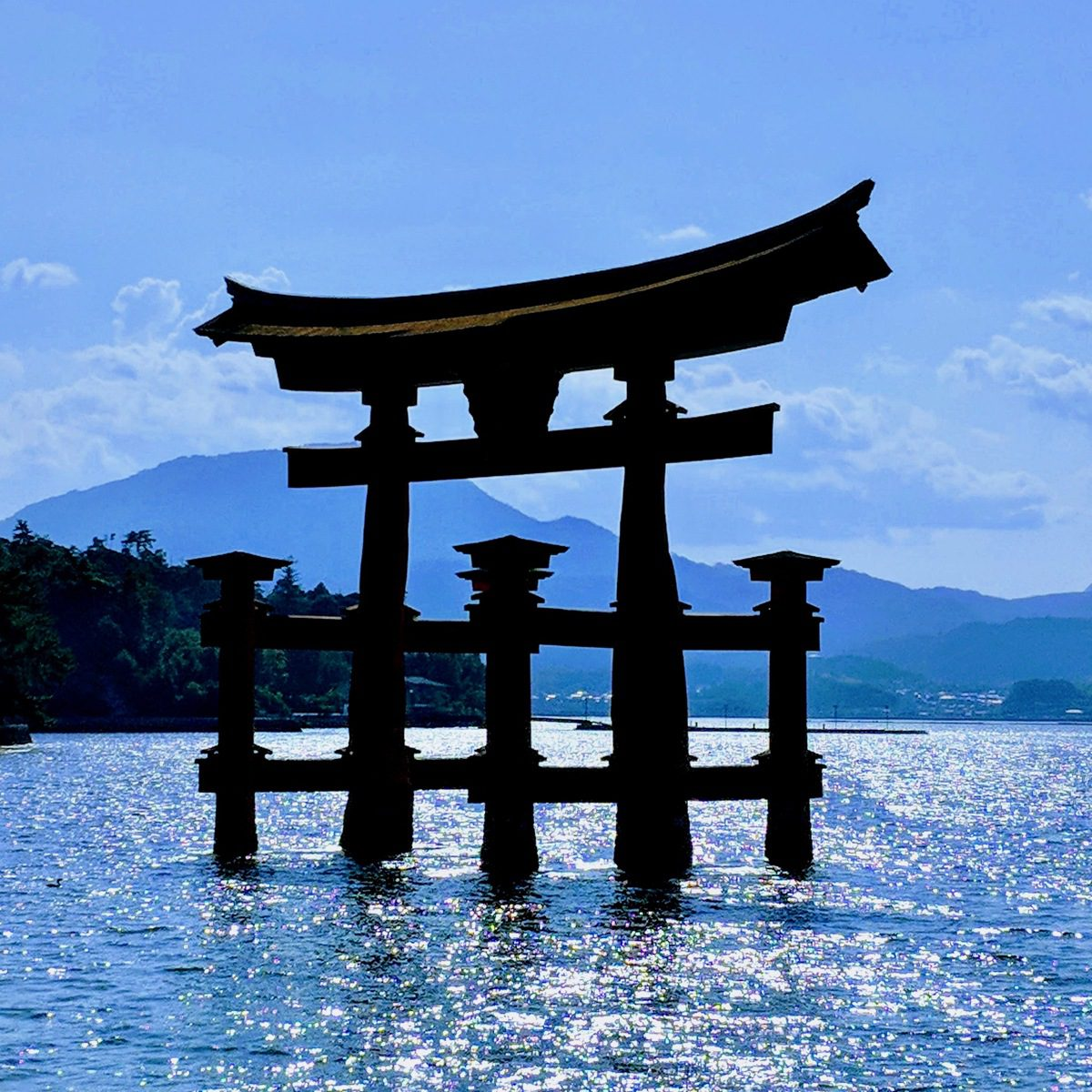 Itsukushima Shrine, the holiest Shinto shrine, on Miyajima Island, Japan.