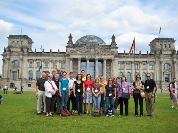 TOP Group 4 2009 in front of the Bundestag.