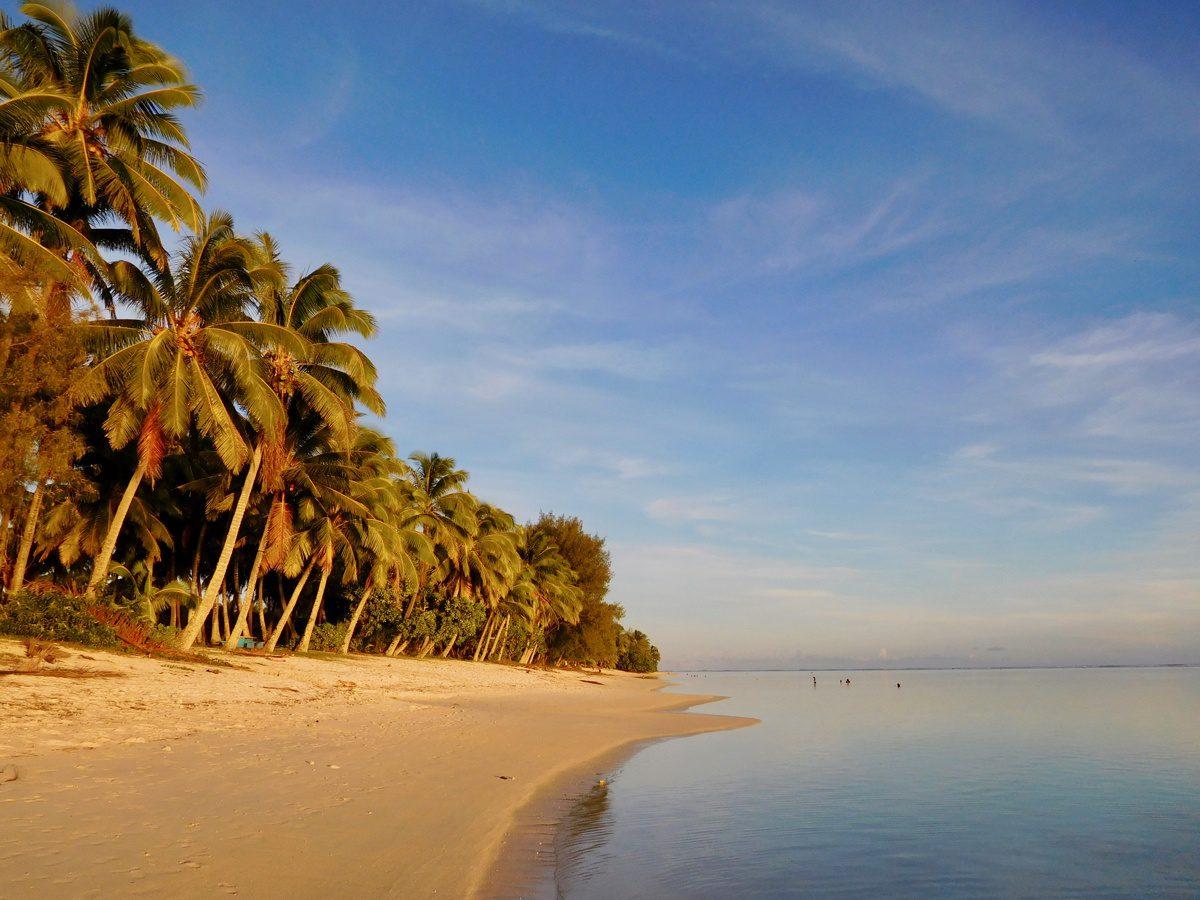 Sunset in Rarotonga, Cook Islands.