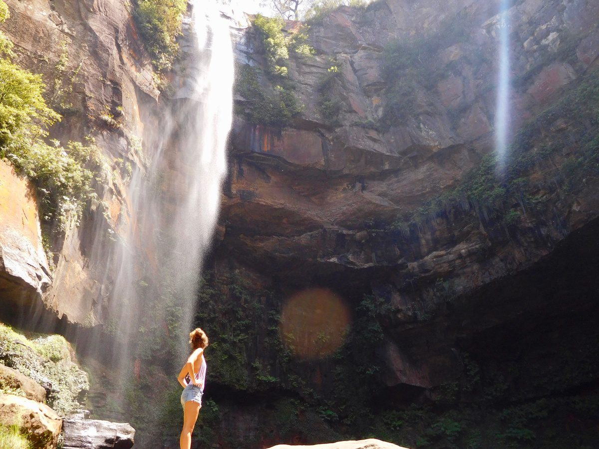 New Year's Day in Australia... at a waterfall!
