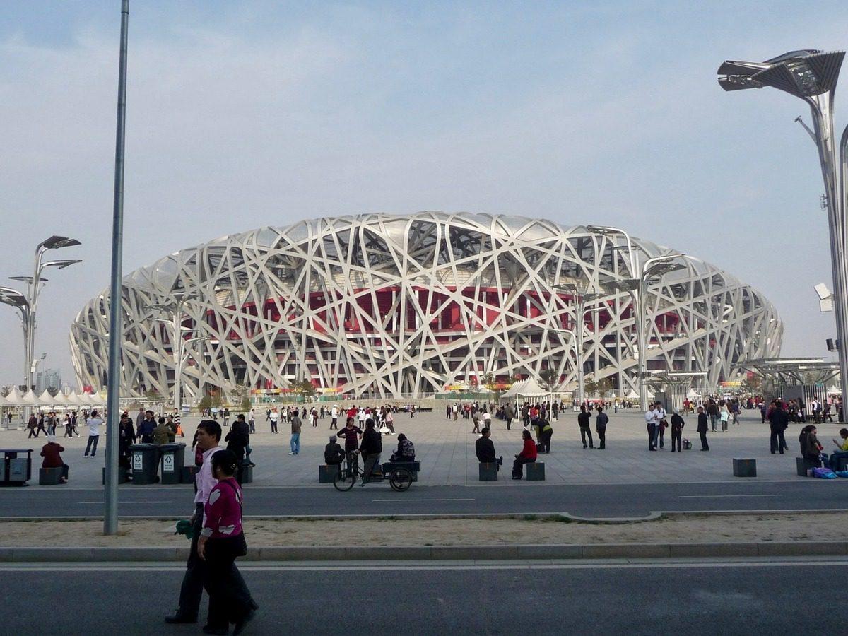 The Bird's Next Stadium in Beijing, China.