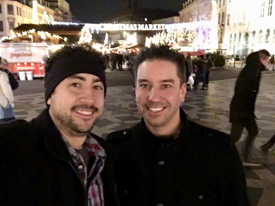 Checking out the Christmas Markets in Copenhagen.