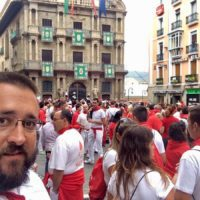 Festivities of San Fermin (Running of the Bulls) Pamplona, Spain.
