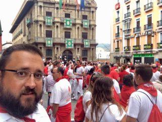 Festivities of San Fermin (Running of the Bulls) Pamplona, Spain.