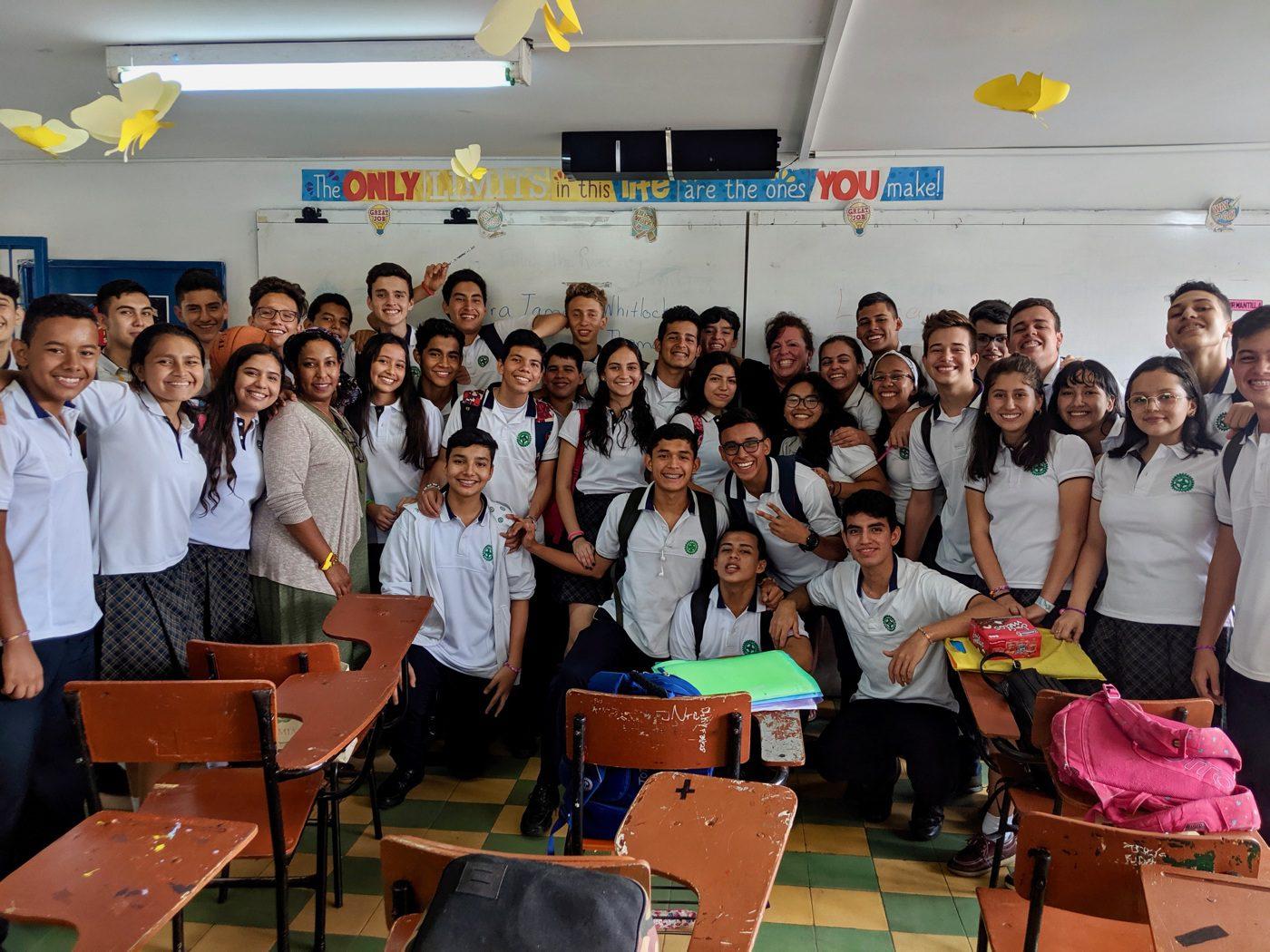Host school in Colombia